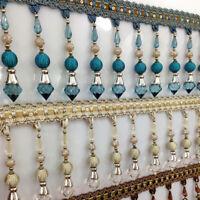 Curtain Sewing Fringe Trim Tassel Bead Lace Accessory Elegant Pendant Ribbon 1m