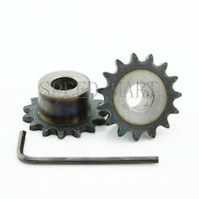 2 Pcs 10mm Bore 15 Teeth 15t Metal Pilot Motor Gear Roller Chain Drive Sprocket