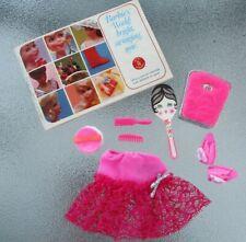Vintage Mod Barbie '69 Pak Petti-Pinks Scale Mirror Slippers Puff Brsh/Comb Book
