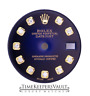 Custom Blue Vignette  Genuine Diamond  Dial To Fit Rolex Lady Datejust 26mm