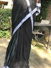 Designer Silk, lace & Net Saree with Handmade Zari blouse & Kamdani on Net Palu