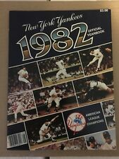 NEW YORK YANKEES 1982 Official Yearbook W/ Uncut TCMA Cards- Mantle & Dimaggio