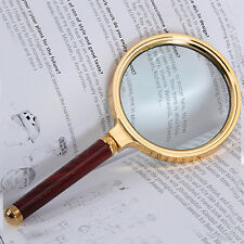 Classic 10X Magnifier Magnifying Glass 90mm Handheld Jewelry Loupe Reading UK