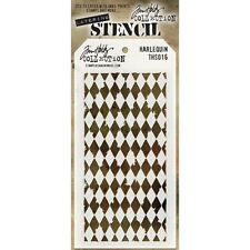 Tim Holtz Layering Stencil ~ HARLEQUIN ~ THS016 ~ Stampers Anonymous