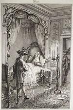 Estampe Antique Print Nouvelles espagnoles n°10 dessiné par Desrais