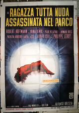 manifesto 4F film RAGAZZA TUTTA NUDA ASSASSINATA NEL PARCO Alfonso Brescia 1972