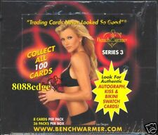 2003 BENCHWARMER SERIES 3 SEALED BOX - KISS/BIKINI/AUTO