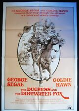THE DUCHESS AND THE DIRTWATER FOX ORIGINAL 1974 1 SHEET POSTER GOLDIE HAWN