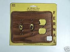 Fernal Solid Hardwd 2 switch/2 Plug Plate, Tavern Oak