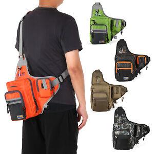 Waterproof Fishing Tackle Bag Pack Waist Box Reel Lure Storage Backpack CSQ J3E9