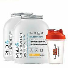 2 x PhD Nutrition Pharma Whey HT+ 2.25kg STACK DEAL + FREE Gift