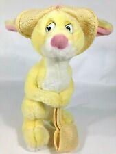 "Disney RABBIT Plush WINNIE the POOH 10"" Bunny Collectible w/ Hat & Basket"
