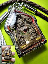 5936-THAI RETURN LOVE SEX AMULET KHUN-PAEN LEKLAI HORSE LP KEY TAKUD 9 GOLDEN