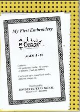 My First Embroidery - Kindercraft Art x 10 Perforated cards
