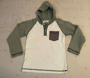 Street Rules Boys White & Gray long sleeve hooded shirt size 4T