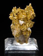 Native Gold on Quartz - Mineral Specimen from Eagle's Nest Mine, California