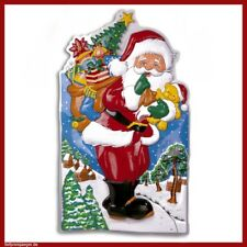 3d Weihnachten DEKO Weihnachtsmann Weihnachtsbild Nikolaus fest Dekoration 6917
