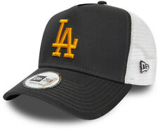 LA Dodgers New Era Essential A-Frame Graphite Trucker Cap