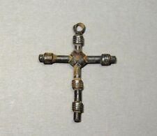 ANCIENT SILVER CROSS PENDANT BYZANTINE 500-700 AD