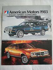 American Motors Concord & Spirit FOLLETO 1983 Canadá