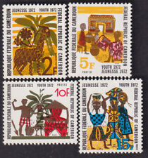 CAMEROON 1972 YOUTH DAY FESTIVAL 4v FINE MNH STAMPS