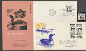 1957 #369 5¢ WILDLIFE ISSUE 2 FIRST DAY COVERS ONE IS SCARCE SCHERING COVER
