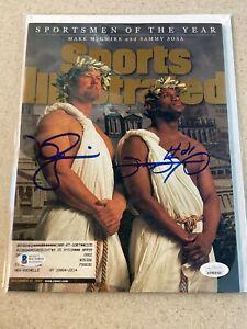 Mark McGwire / Sammy Sosa signed Sports Illustrated magazine * JSA and Beckett *