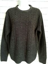 Geoffrey Beene Women's Crew Neck Long Sleeves Gray Cable Knit Sweater Size M/L