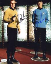 (Ssg) William Shatner & Leonard Nimoy Signed 8X10 Star Trek Photo with a Jsa Coa