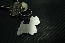 WESTIE West Highland Terrier Dog Breed Keyring Keychain Key Stainless Steel