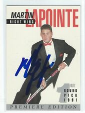 Martin Lapointe 1991-92 Arena Draft Signed Pre Rookie Card #8
