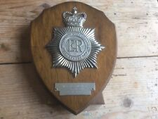 More details for vintage nottinghamshire combined constabulary police officer desk plaque/shield