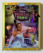 Disney The Princess and the Frog Animated New Orleans Blu-ray DVD & Digital Copy