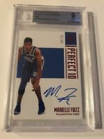 MARKELLE FULTZ NBA ENCASED 2017-18 PERFECT 10 AUTO RC RED /25 MINT BGS 9 76ERS