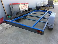 Car Trailer Frame Tandem axle 12X6.6FT 2T OPEN CENTRE NO RAMPS NO FLOOR NO PAINT