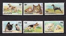 chat et chien PHILIPPINES 1979 Y&T N°1138 à 1143 6 timbres oblitérés / 4164
