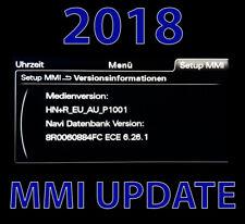 Audi MMI Navigationsupdate 2018 6.26.1 A4, A5, A6, A7, A8, Q3, Q5, Q7