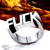 Letter Men's Punk Alloy Rings Gothic Biker Finger Ring Gifts Women Accessories