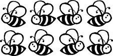 Buzzy's Bee Adesivo Vinile, decalcomania, paraurti, finestra, Muro, Laptop Nero