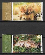 Bund Mi.Nr. 3047-3048 (2014) gestempelt/Tierkinder (Fuchs, Igel)