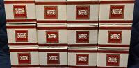 Vintage Avon 1876 Cape Cod Coffee Tea Cup & Saucers Ruby Red Set of12 w/boxes