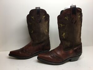 VTG WOMENS UNBRANDED SNIP TOE COWBOY SUEDE BROWN BOOTS SIZE 8.5