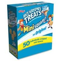 Keebler KEB12346 Rice Krispies Treats Original Mini Squares 50 Per Box