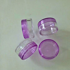 50pcs 5 Gram Purple Plastic Makeup Cosmetic Lotion Cream Sample Jar Container