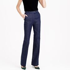 J Crew Collection Preston pant in Japanese denim E5219 $198 Sz 8 Indigo Trouser