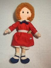 "Vintage 1982 Knickerbocker 16"" Little Orphan Annie Plush Stuffed Doll Toy"