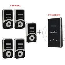 Atg100 Meeting Tourism Teach Tour Guide Wireless System 1 Transmitter 5 Receiver