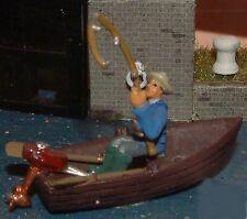Rowing boat & fisherman (OO/HO - Unpainted - Langley F136