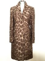ROBERTO CAVALLI Mantel braun Coat brown Leo Print DE 44 IT 50 NEU! UVP 1038€!