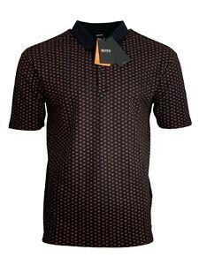 Hugo Boss Men's Polo Shirt Pevario Regular Fit Headphones Print - Black/Red
